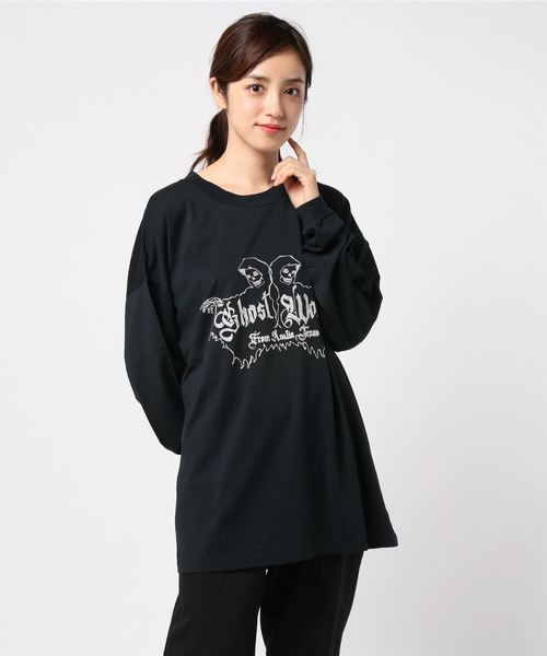 GW/THE WITCHES刺繍 リブ付Tシャツ