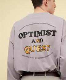 ビッグシルエット コットン天竺イラストデザインL/Sカットソー(EMMA CLOTHES - OPTIMIST AND QUEST)パープル系その他