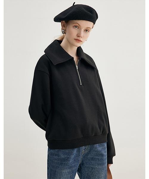 【Fano Studios】【2021AW】Big polo collar zipper sweater FD21S066