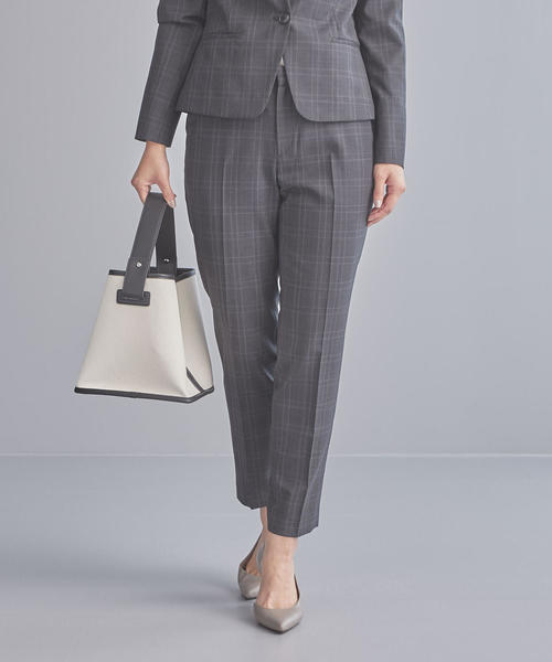 【WORK TRIP OUTFITS】D TW チェック テーパード パンツ