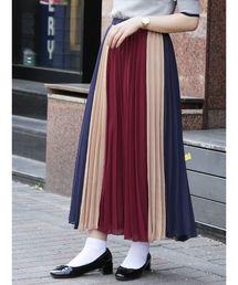 dazzlin(ダズリン)のパネルカラープリーツスカート(スカート)
