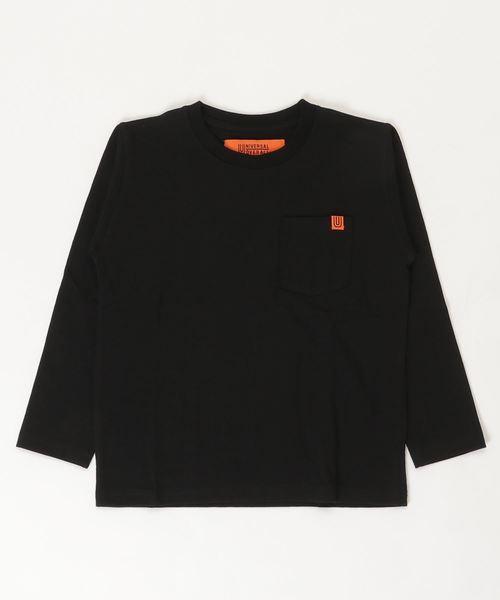 BIG FIELD(ビッグフィールド)の「【UNIVERSAL OVERALL】ポケットロンT(130〜150cm)(Tシャツ/カットソー)」|ブラック
