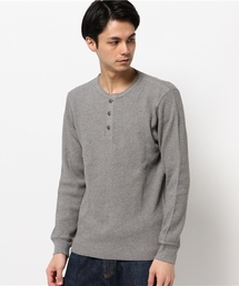 AVIREX(アヴィレックス)のavirex/アヴィレックス/メンズ/L/S WAFFLE HENLY NECK T-SHIRT/長袖 ワッフル ヘンリーネック Tシャツ(Tシャツ/カットソー)