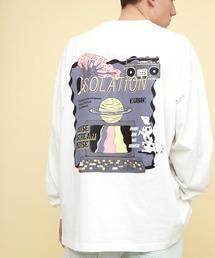 ビッグシルエット コットン天竺イラストデザインL/Sカットソー(EMMA CLOTHES - ISOLATION)ホワイト