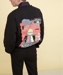 ビッグシルエット コットン天竺イラストデザインL/Sカットソー(EMMA CLOTHES - ISOLATION)ブラック