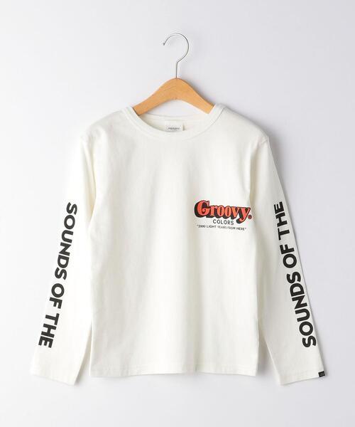 【ジュニア】◆GROOVY COLORS(グルービーカラーズ)ロゴプリントT