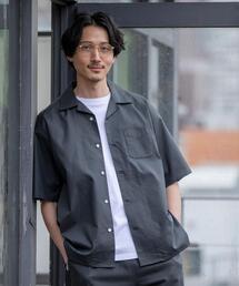 TCオックスオープンカラーショートスリーブシャツ(セットアップ対応)