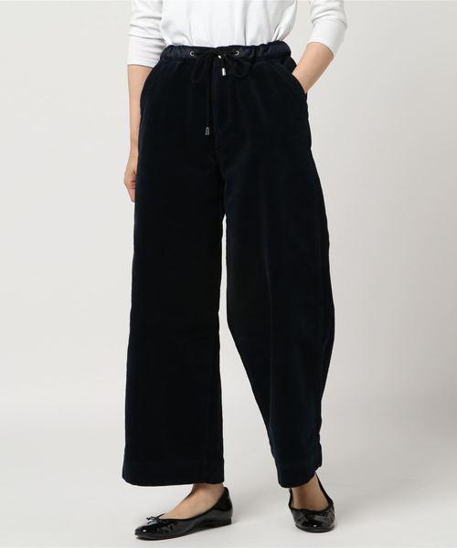 Moname(モナーム)の「Moname イージー ワイド コーデゥロイパンツ EASY WIDE PANTS(イージーパンツ)/41173122(パンツ)」|ネイビー