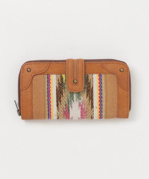 チャイハネ(チャイハネ)の「【チャイハネ】インド織り生地キャンバスウォレット 長財布(財布)」|ベージュ