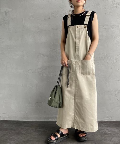 [UNIVERSAL OVERALL/ユニバーサルオーバーオール] 別注配色ステッチジャンパースカート