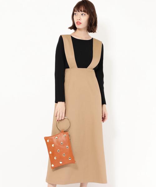 975b754b17cb1 セール (ROSE BUD) サスペンダー付きスカート(スカート) ROSE BUD ...
