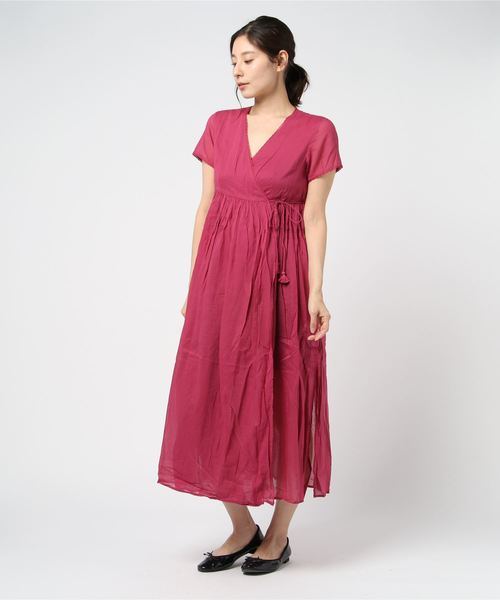 【ne Quittez pas/ヌキテパ】COTTON VOIL SHORT SLEEVE GOWN