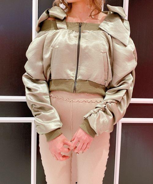 名作 リボンオフショルMA-1(MA-1)|lilLilly(リルリリー)のファッション通販, lovelyj:d00be5ea --- tsuburaya.azurewebsites.net