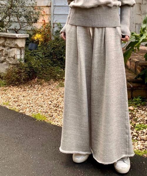 Robes&Confections/ローブス&コンフェクションズ/1タックワイドスウェットパンツ
