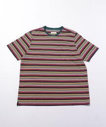 <POP TRADING COMPANY (ポップ トレーディング カンパニー) > STRIPED MULTI SS/Tシャツ