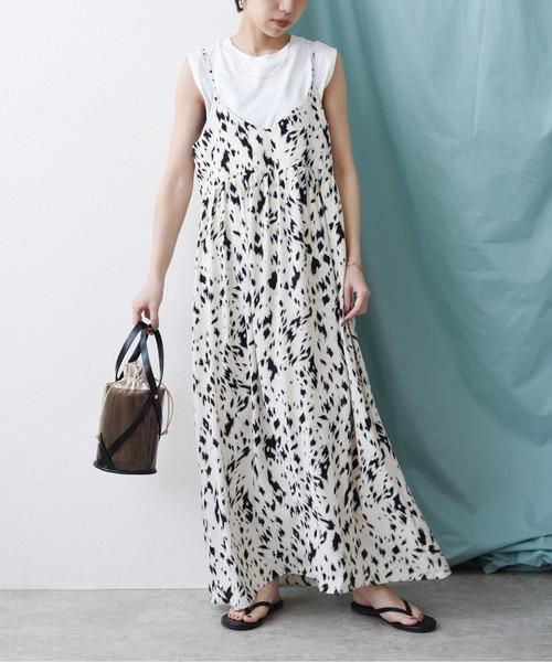 レオパード柄キャミドレス
