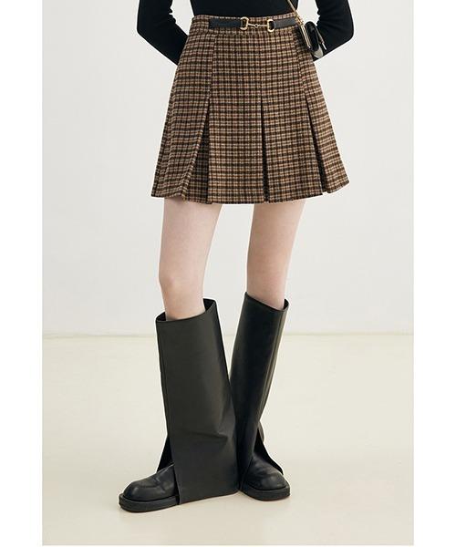 【Fano Studios】【2021AW】Waist buckle pleated skirt FD21B009