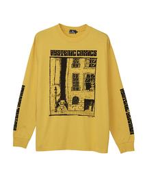 HYS COMICS プリント リブ付Tシャツ