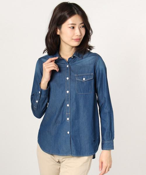 McGREGOR(マックレガー)の「4ozライトデニムシャツ(シャツ/ブラウス)」|ブルー系その他