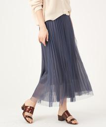 Discoat(ディスコート)のチュール重ねプリーツスカート(スカート)