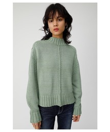 MOUSSY(マウジー)のSPRING COLOR B/N KNIT TOP(ニット/セーター)