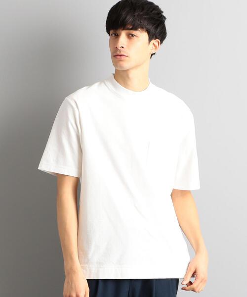 CM クレープ ワイドカラー 半袖 Tシャツ