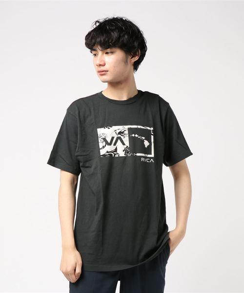 RVCA メンズ  ISLANDS BALANCE BOX FILL Tシャツ