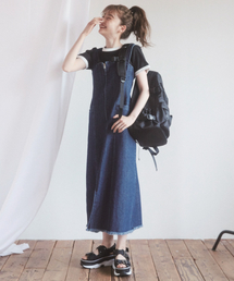 Heather(ヘザー)のZIPロングジャンスカ 841908(ジャンパースカート)