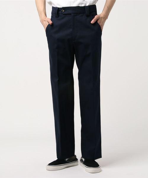無料発送 Cotton Canvas Straight Trouser, そうざい男しゃく 53bd3e9f