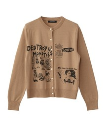 DESTROY ALL MONSTERS/MY YEAR IN HELL TOWN カーディガンベージュ