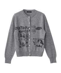 DESTROY ALL MONSTERS/MY YEAR IN HELL TOWN カーディガントップグレー