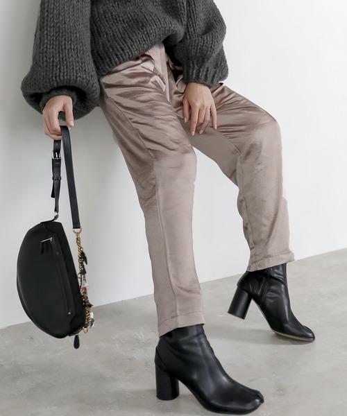 【chuclla】Vintage taste satin pants chz1