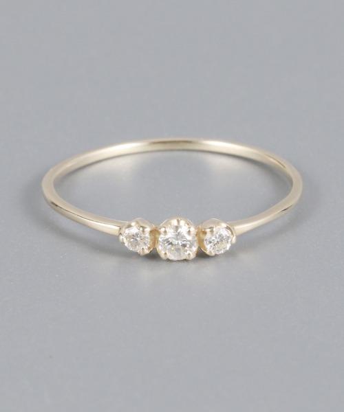 【Etoile】K10トロワダイヤモンドリング