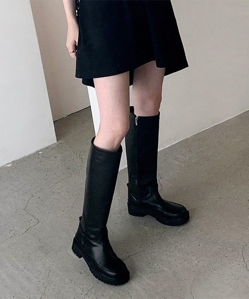 【chuclla】【2021AW】Wide straight long boots chs21a024