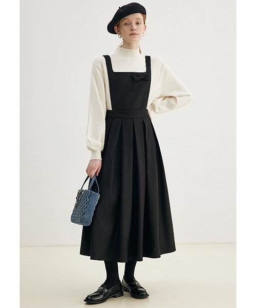 【Fano Studios】【2021AW】A-line suspender pleated skirt FD21L007