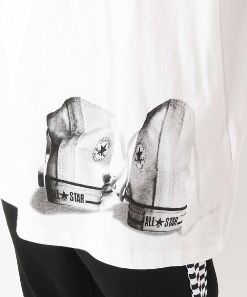 CONVERSE クルーネックビッグ半袖ロゴTシャツ