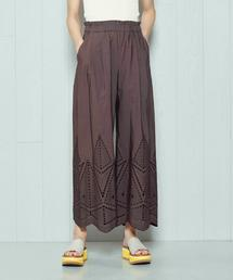 <H>EMBROIDERY PANTS/パンツ о