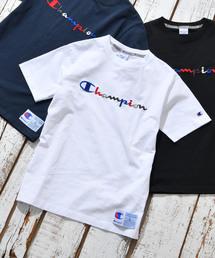 Champion(チャンピオン)の【Champion/チャンピオン】 刺繍スクリプトロゴTシャツ(Tシャツ/カットソー)