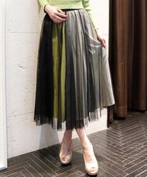 Desert Rose(デザートローズ)の【LUGIVA】チュールギャザースカート(スカート)