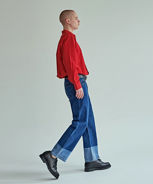 【MISTICDUN】トーン リラックス ストレート パンツ