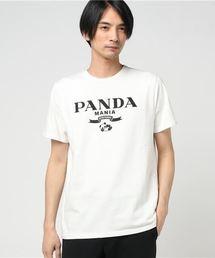 T.NOGUCHI × HYSTERIC GLAMOUR/PANDA MANIA プリント Tシャツ