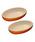 Le Creuset(ルクルーゼ)の「オーバル・ボール 23cm(2個入り)(食器)」 オレンジ