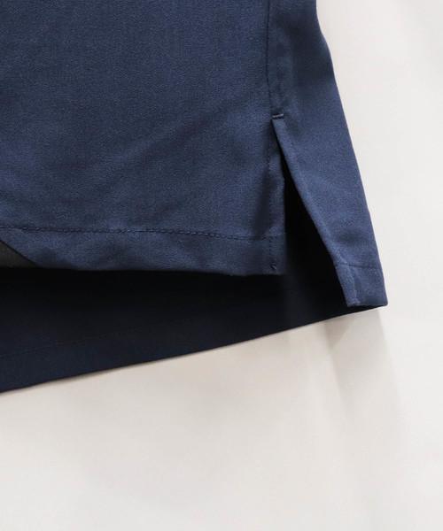 Confirm / コンファーム 7分袖異素材切替Tシャツ