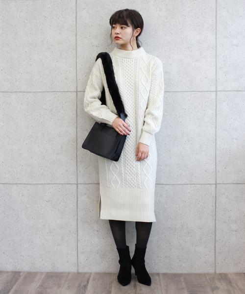 100 %品質保証 【セール】ラムウールアラン柄スリットワンピース(ワンピース)|Jines(ジネス)のファッション通販, 歌登町:266f2703 --- blog.buypower.ng