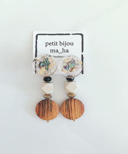 tone(トーン)の「【petit bijou ma_ha】オリジナルパーツ大振り2WAYピアス(ピアス(両耳用))」|その他