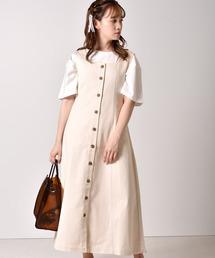 バックリボンジャンパースカートオフホワイト