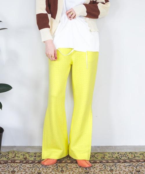 【SANSeLF】Se side tuck flare pants sanwt5