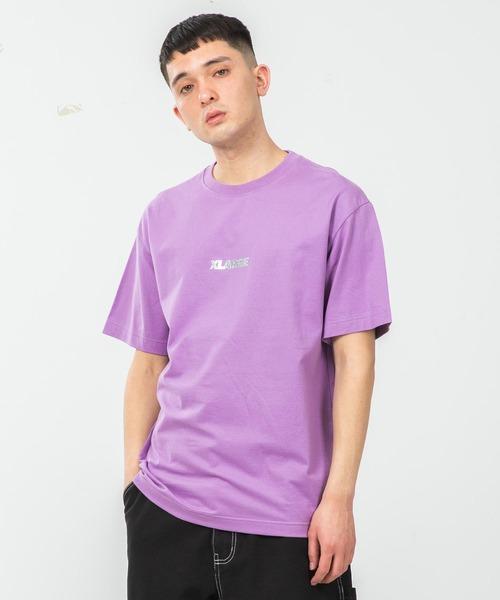 XLARGE(エクストララージ)の「S/S TEE STANDARD LOGO(Tシャツ/カットソー)」|ライトパープル