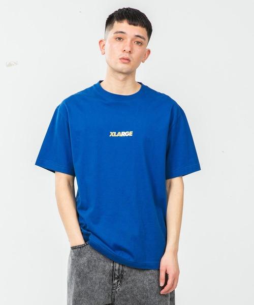 XLARGE(エクストララージ)の「S/S TEE STANDARD LOGO(Tシャツ/カットソー)」|ブルー