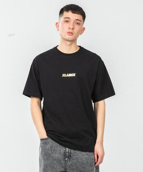 XLARGE(エクストララージ)の「S/S TEE STANDARD LOGO(Tシャツ/カットソー)」|ブラック